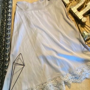 NWOT Octavia Silver A Line Skirt Size L